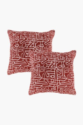 2 Pack Kuba Scatter Cushion Covers, 45x45cm