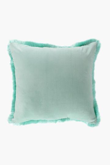 Velvet Fray Feather Scatter Cushion, 60x60cm