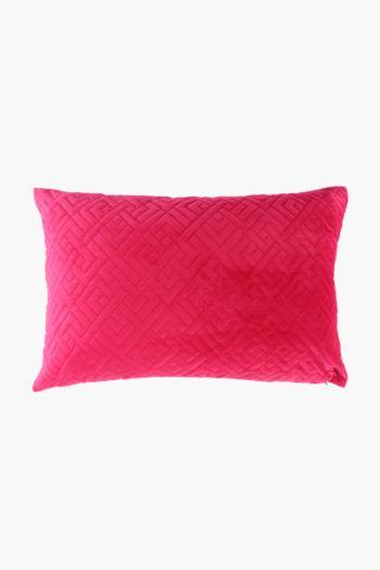 Velvet Quilted Scatter Cushion, 40x60cm