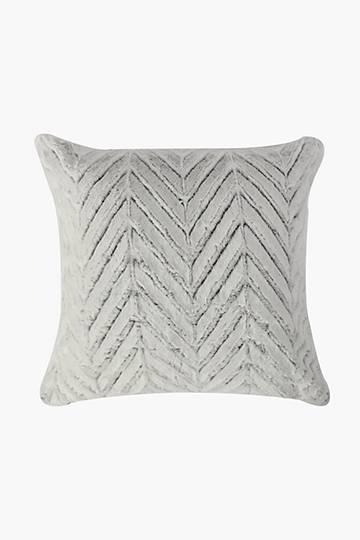 Faux Fur Chevron Scatter Cushion, 50x50cm