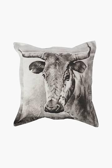 Printed Nguni Scatter Cushion, 55x55cm