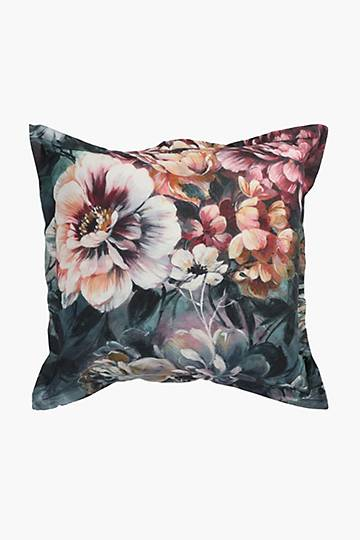 Printed Floral Fascination Scatter Cushion, 55x55cm