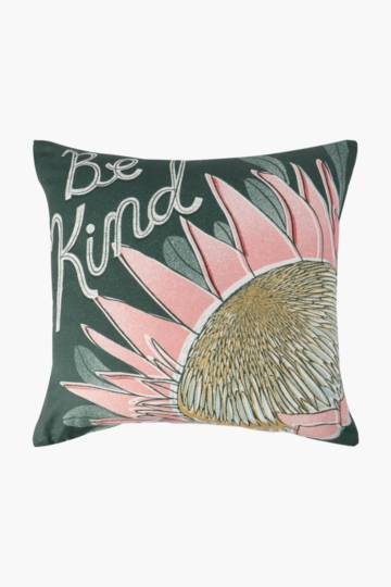 Positive Vibes Be Kind Printed Scatter Cushion, 50x50cm