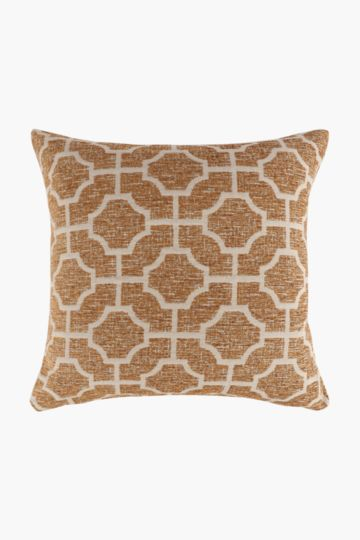 Chenille Honeycomb Scatter Cushion, 60x60cm