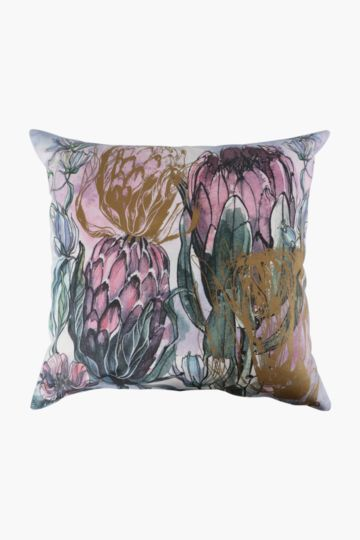 Foil Protea Feather Scatter Cushion, 60x60cm
