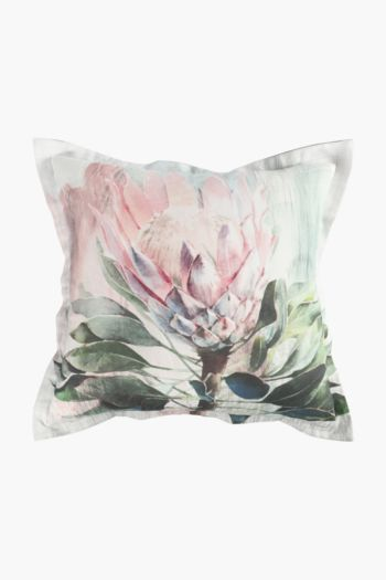 Printed Sedgefield Protea Scatter Cushion, 55x55cm