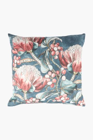 Printed Protea Scatter Cushion, 50x50cm