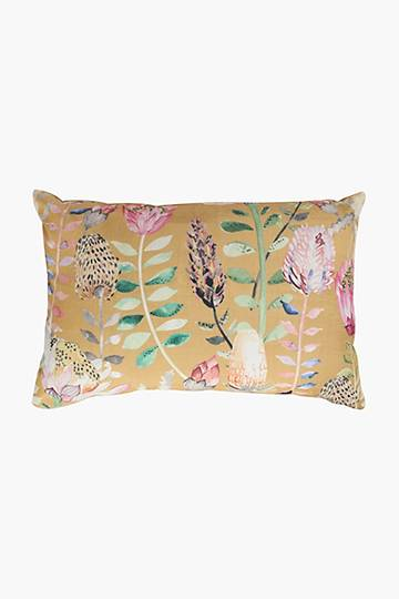 Printed Stanford Protea Scatter Cushion, 40x60cm