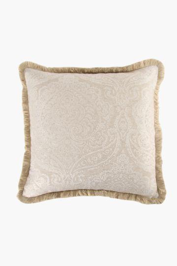 Jacquard Fringe Jacobean 60x60cm Scatter Cushion