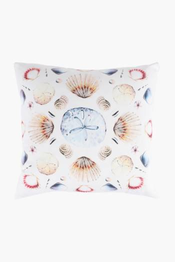 Printed Clam Scatter Cushion Cover, 50x50cm