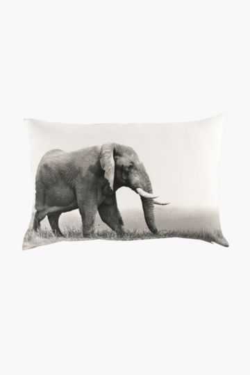 Printed Elephant Feather 40x60cm Scatter Cushion