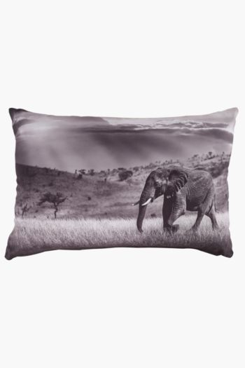 Digital Print Elephant Scatter Cushion, 40x60cm