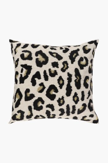 Embroidered Lurex Spot Scatter Cushion, 50x50cm