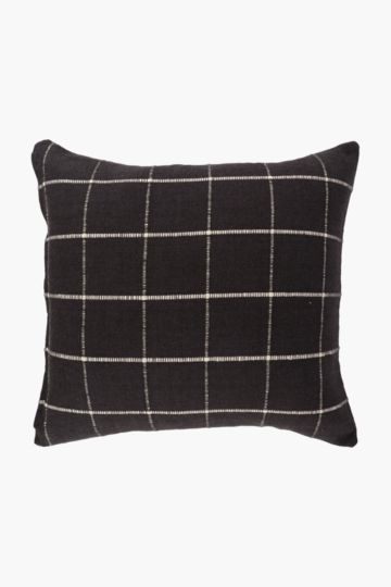 Jacquard Checked Scatter Cushion, 50x50cm