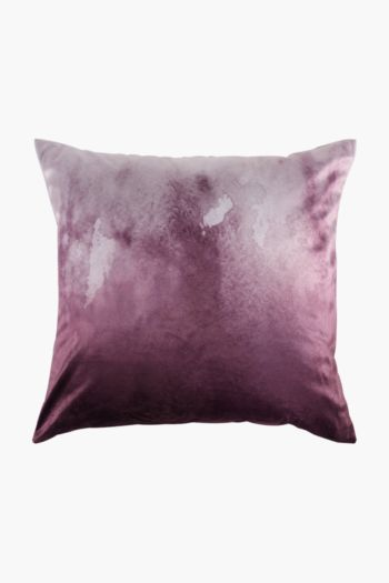 Velvet Ombre Scatter Cushion, 50x50cm