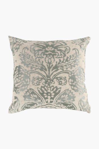 Crewel Embroidered Fleur Scatter Cushion, 50x50cm