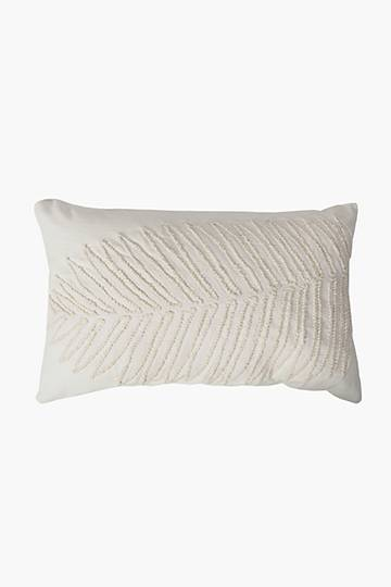 Crewel Embroidered Fern Scatter Cushion, 40x60cm