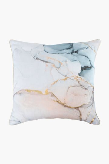 Printed Swirl Feather Scatter Cushion, 60x60cm