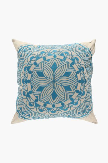 Embroidered Medallion Scatter Cushion, 50x50cm