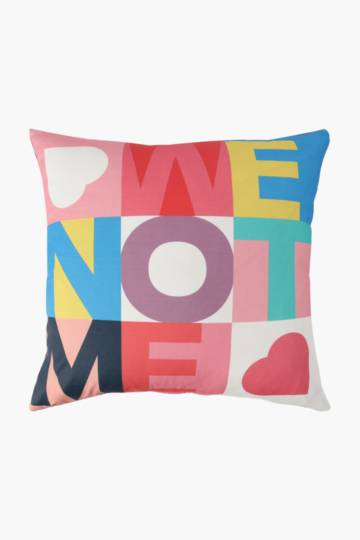 Positive Vibes We Printed Scatter Cushion, 50x50cm