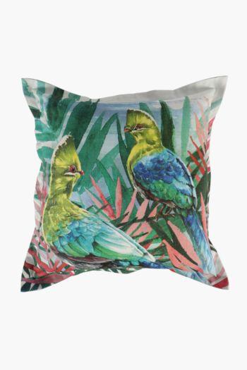 Printed Lourie Bird Scatter Cushion, 55x55cm