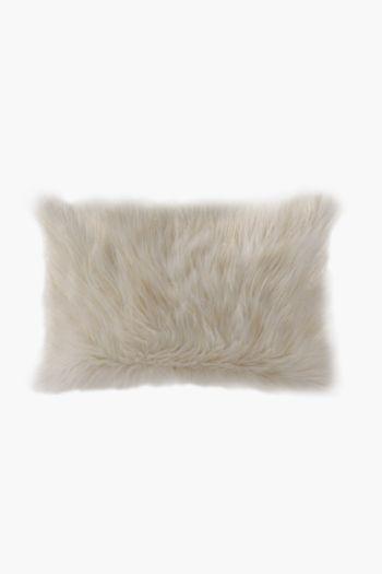 Faux Fur Lurex Scatter Cushion, 40x60cm