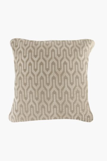 Chenille Geometric Feather Scatter Cushion, 60x60cm