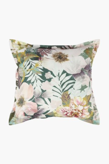 Printed Nolia Floral Scatter Cushion, 55x55cm