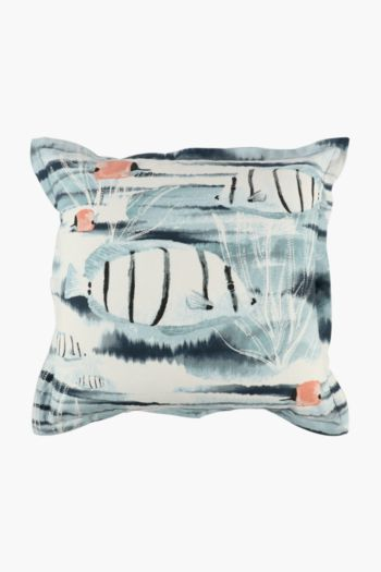 Printed Rock Pool Scatter Cushion, 55x55cm
