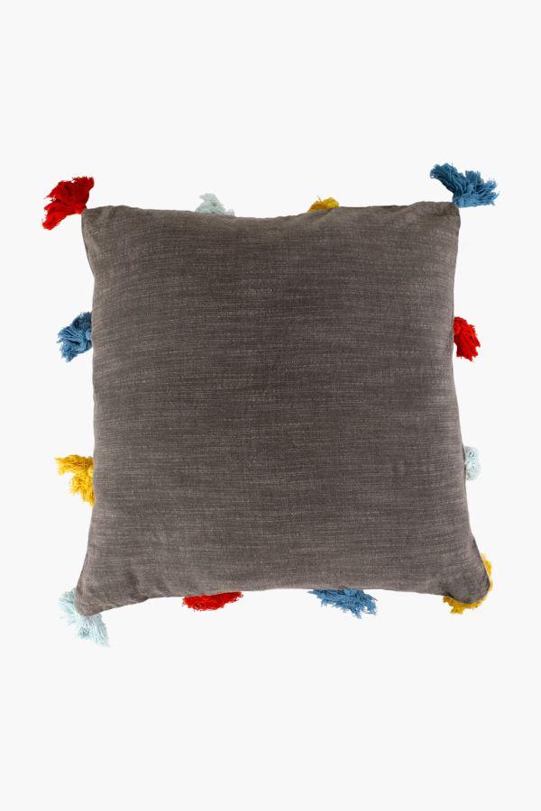 Woven Multi Tassel Scatter Cushion, 50x50cm
