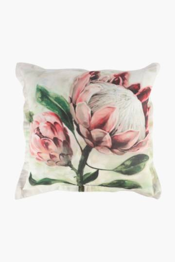 Printed Loxton Protea Scatter Cushion, 55x55cm