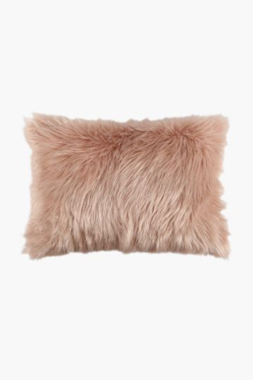 Faux Fur Lurex Scatter Cushion, 40x60cm