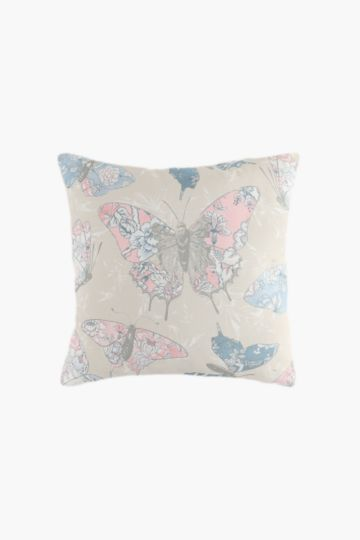 2 Pack Printed Butterfly Scatter Cushion Cover, 45x45cm