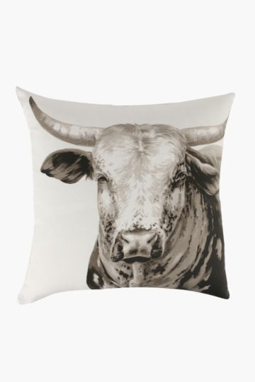 Printed Nguni Scatter Cushion, 55x55cm