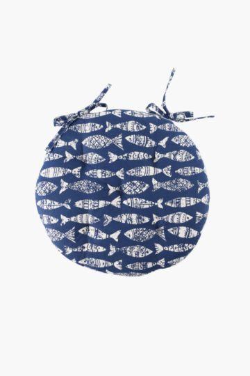 Fancy Fish Round Chair Pad, 40x40cm
