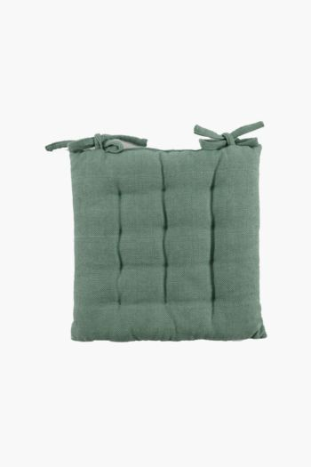 Double Edge Cotton Chair Pad, 40x40cm