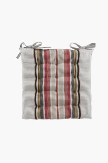 Perilla Stripe Chair Pad, 40x40cm