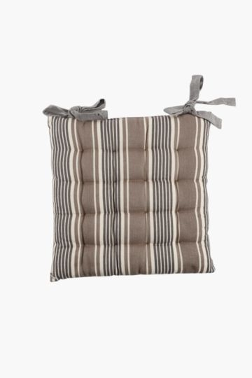 Classic Stripe Chair Pad, 40x40cm
