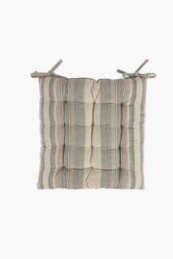 Shendi Stripe Chair Pad, 50x50cm