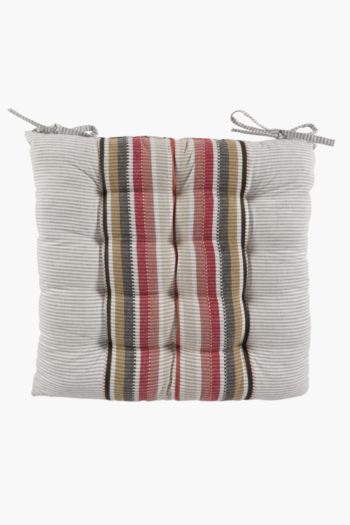 Perilla Stripe Chair Pad, 50x50cm