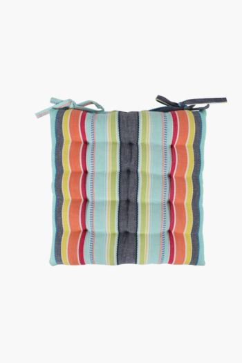 Waikiki Stripe Chair Pad, 40x40cm