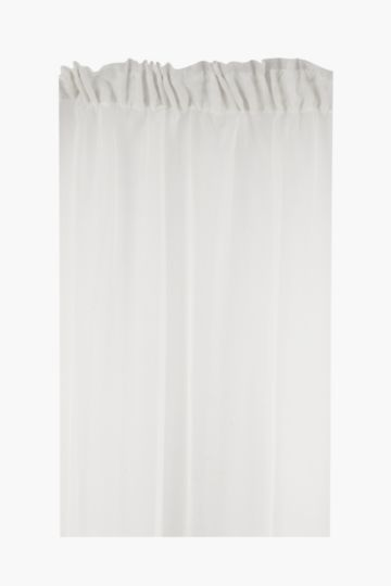 Sheer Voile Taped Curtain, 290x218cm
