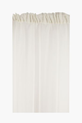 Sheer Voile 490x218cm Taped Curtain