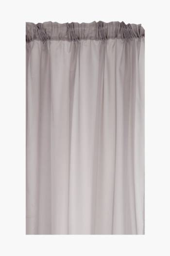 Sheer Voile 290x218cm Taped Curtain