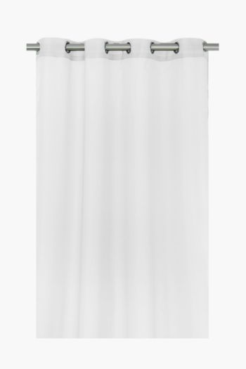 Sheer Stripe Voile 140x225cm Eyelet Curtain