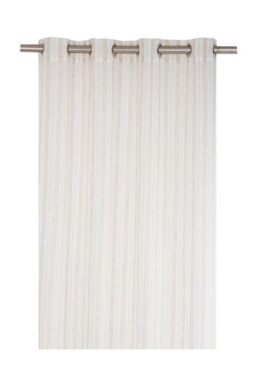 Ribbed Linen Stripe 140x225cm Eyelet Curtain