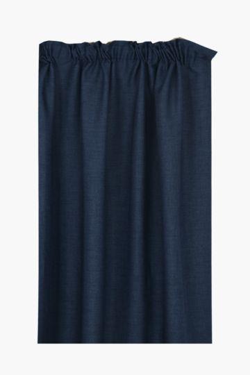 Tweedle 230x218cm Taped Curtain