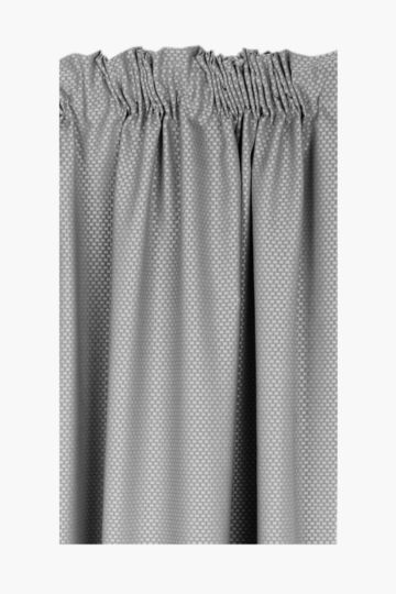 Basket Weave 230x218cm Taped Curtain