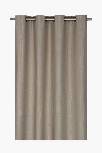 Basket Weave 225x225cm Eyelet Curtain