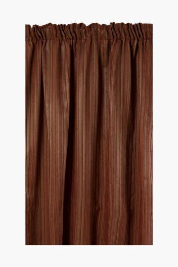 Textured Stripe 270x218cm Taped Curtain